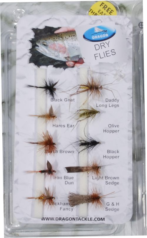 Dry flies – 10 kpl