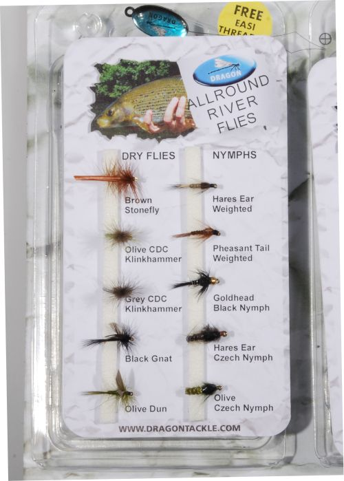 Allround river flies - 10 kpl